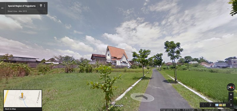 Here's the curch view using Google Street View