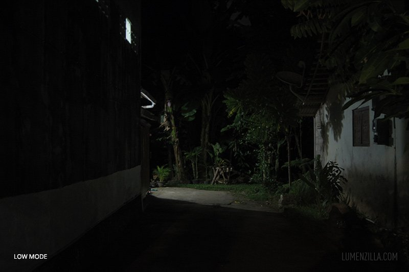 beamshot on the road m900 on mode low