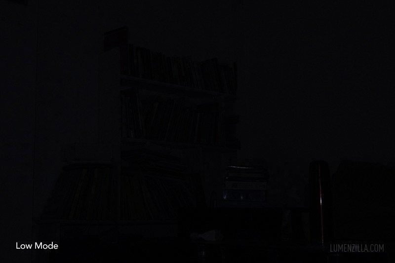Fenix UC01 beamshots at 4-5 meters distance in low mode