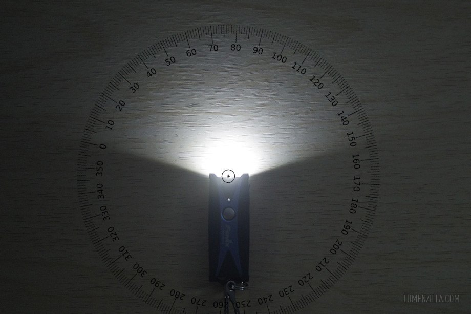 Fenix UC01 150 degree beam spread