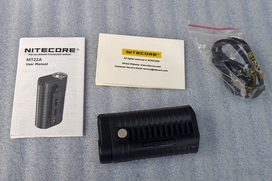 nitecore mt22a package contents