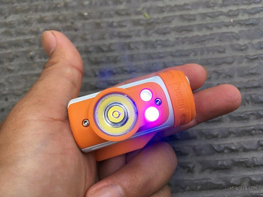 Wuben H3 auxiliary blue light