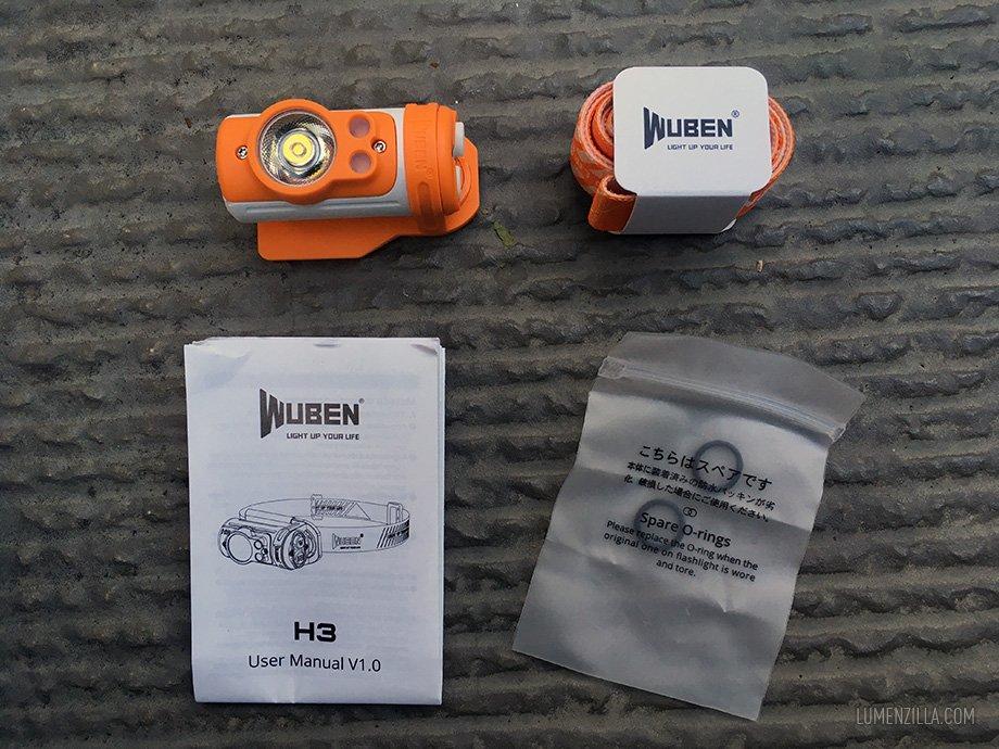 Wuben H3 package content