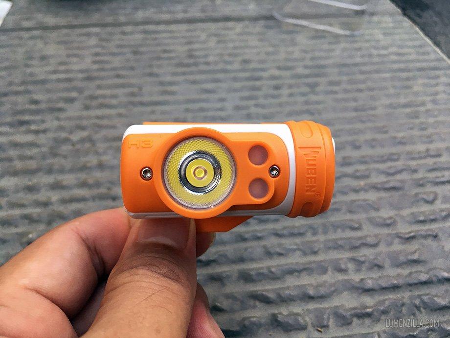 Wuben H3 with Osram P8 LED and vortex TIR optic